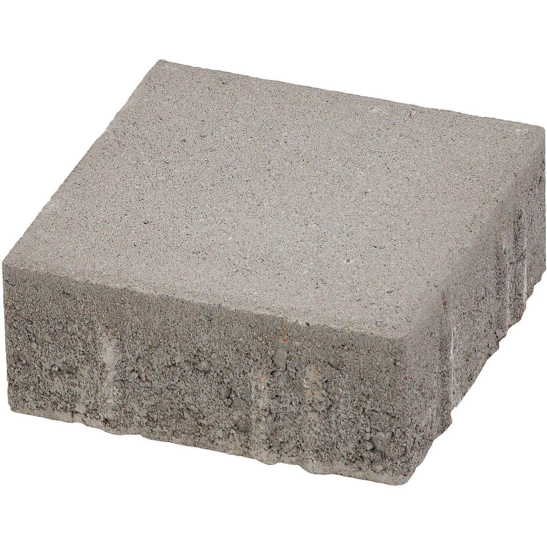 Quadrat-Pflaster Beton Grau 20 cm x 20 cm x 8 cm