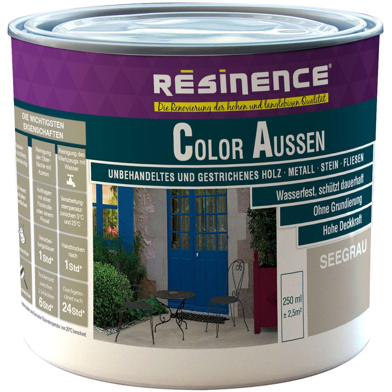 resinence color aussen seegrau seidenmatt 250 ml kaufen. Black Bedroom Furniture Sets. Home Design Ideas