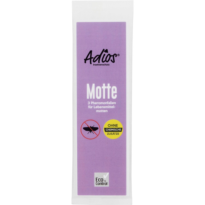 Adios  Motten Pheromonfalle für Lebensmittelmotten 3er-Pack