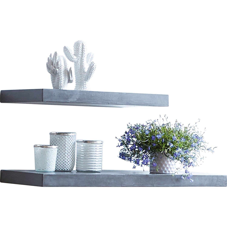 miavilla wandregal silas grau 5 cm x 60 cm x 30 cm kaufen. Black Bedroom Furniture Sets. Home Design Ideas