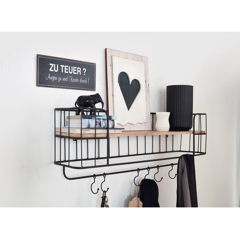 impressionen living wandregal schwarz natur kaufen bei obi. Black Bedroom Furniture Sets. Home Design Ideas