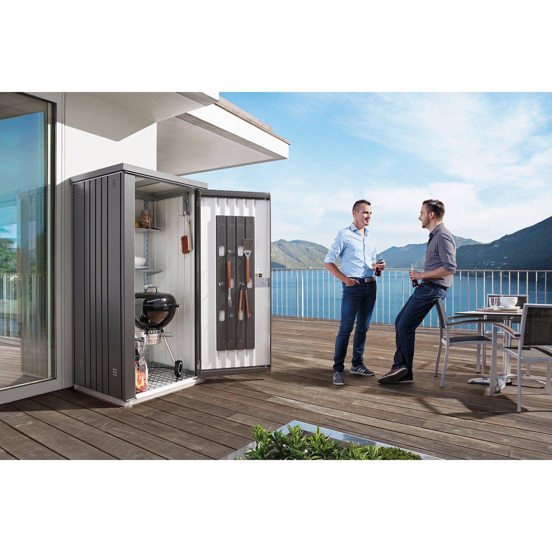 biohort ger teschrank gr 90 quarzgrau metallic kaufen bei obi. Black Bedroom Furniture Sets. Home Design Ideas