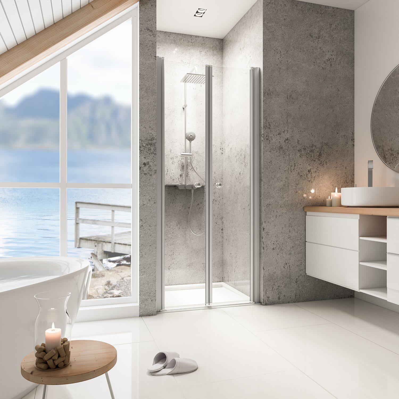 schulte pendelt r in nische garant alunatur echtglas 90 x 200 cm kaufen bei obi. Black Bedroom Furniture Sets. Home Design Ideas
