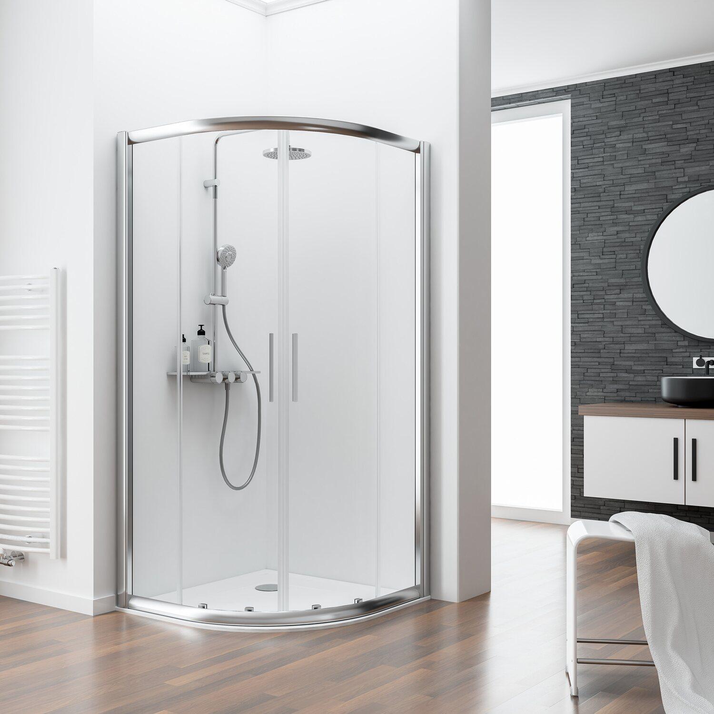 schulte runddusche 4 tlg kristall trend chromoptik echtglas 80 cm x 80 cm kaufen bei obi. Black Bedroom Furniture Sets. Home Design Ideas