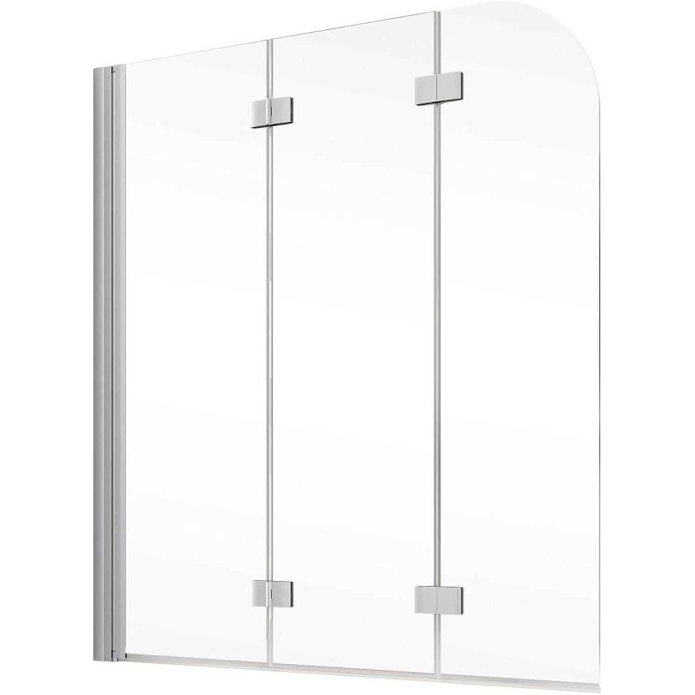 schulte badewannenaufsatz 3 tlg komfort alunatur echtglas 125 x 140 cm kaufen bei obi. Black Bedroom Furniture Sets. Home Design Ideas