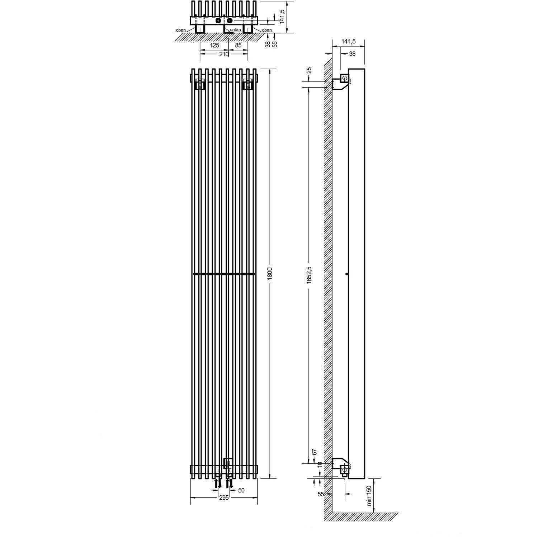 Schulte design heizk rper london mit mittenanschluss 927 w for London boden