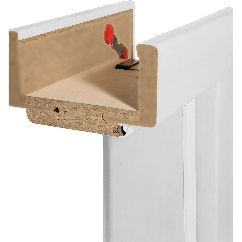 Zarge  Zarge Dekor Weiß 9,5 cm x 86 cm x 198,5 cm DIN Links kaufen bei OBI