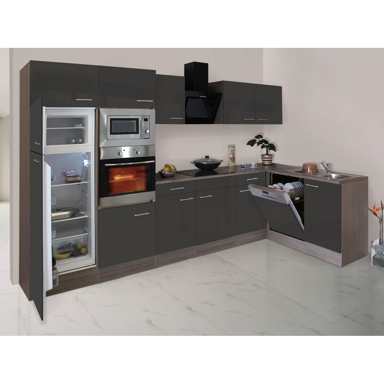 respekta winkelk che 340 cm grau seidenglanz eiche york nachbildung kaufen bei obi. Black Bedroom Furniture Sets. Home Design Ideas