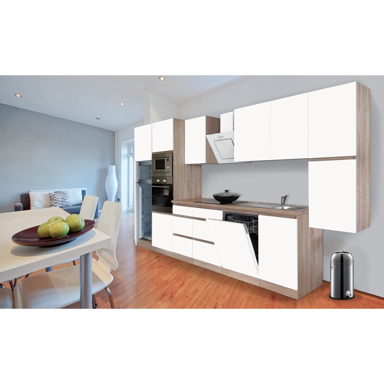 Respekta Premium Küchenzeile Grifflos 395 Cm Weiß Matt