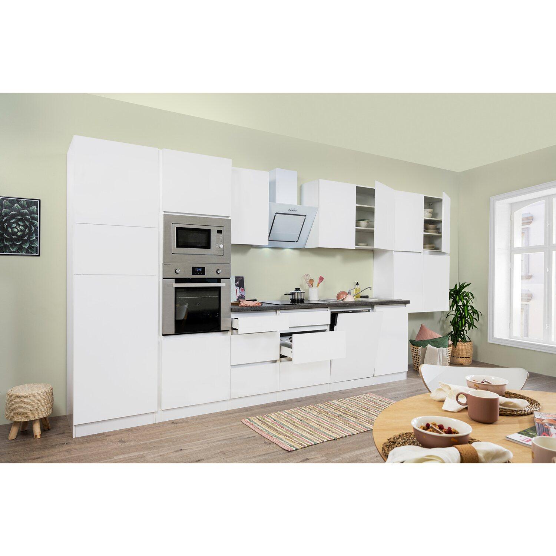 respekta premium k chenzeile grifflos 445 cm wei matt. Black Bedroom Furniture Sets. Home Design Ideas