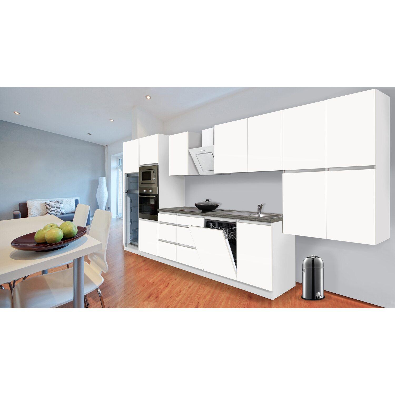 Respekta Premium Küchenzeile Grifflos 445 Cm Weiß Matt