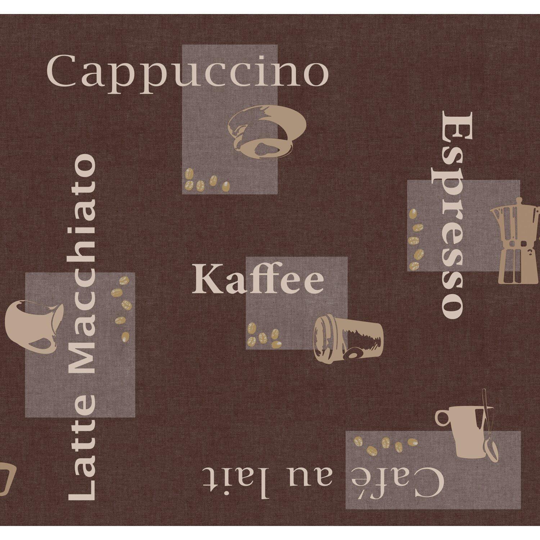 d c fix d-c-fix Tischdecke Cappuccino Schoko Ø 150 cm rund