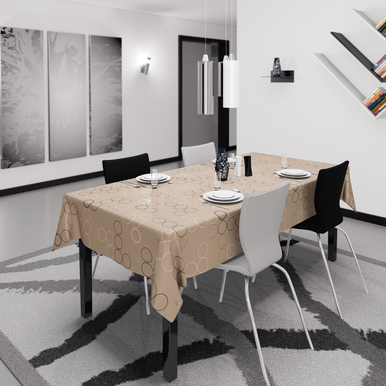 D C Fix Tischdecke Bergamo Laslo Cappuccino Meterware Breite 138 Cm Kaufen Bei Obi