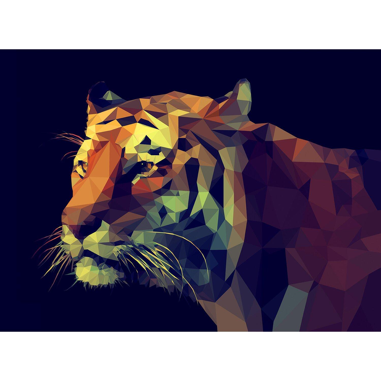 Leinwandbild Colourful Tiger 84 cm x 116 cm kaufen bei OBI