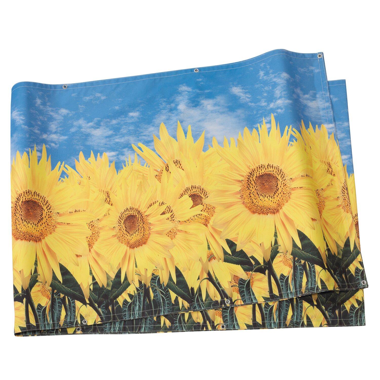 Balkonbespannung Sonnenblumen Design 5 M X 0 9 M Kaufen Bei Obi