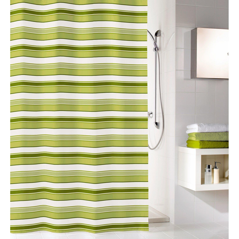 obi duschvorhang stripes 180 cm x 200 cm gr n kaufen bei obi. Black Bedroom Furniture Sets. Home Design Ideas
