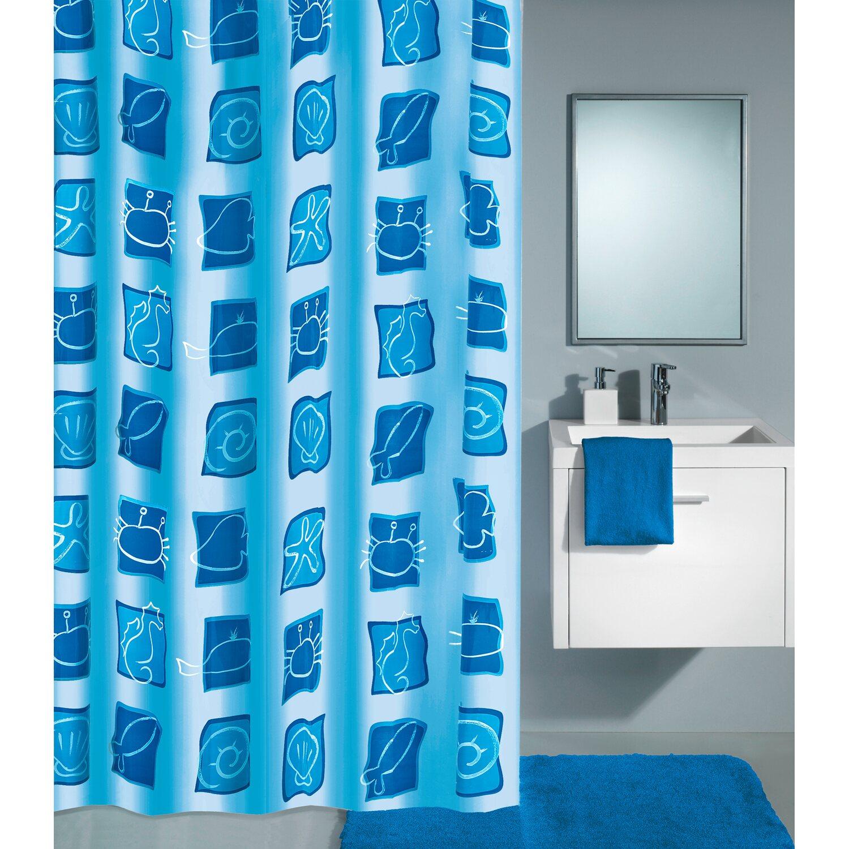 obi duschvorhang sealife 180 cm x 200 cm blau kaufen bei obi. Black Bedroom Furniture Sets. Home Design Ideas