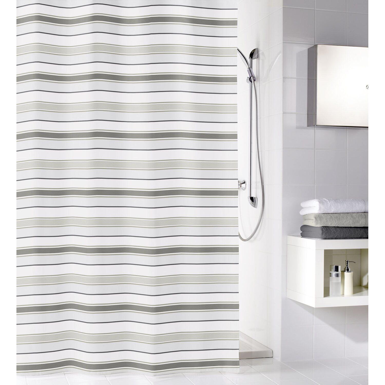 obi duschvorhang stripes 180 cm x 200 cm grau kaufen bei obi. Black Bedroom Furniture Sets. Home Design Ideas