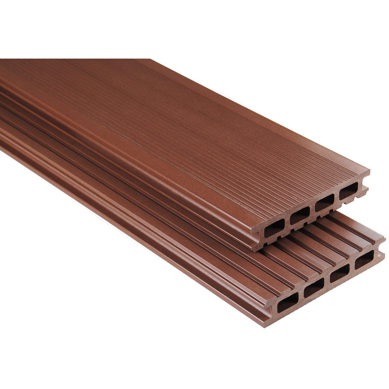 Kovalex WPC Terrassendiele Braun 300 x 14,5 x 2,6 cm