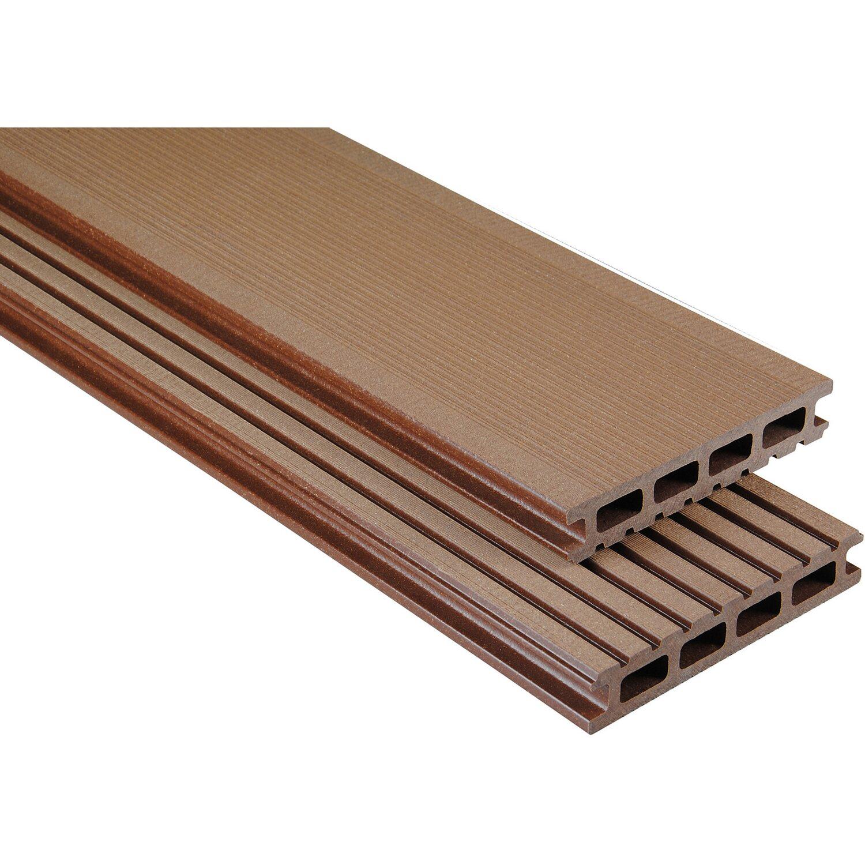 kovalex wpc terrassendiele geb rstet braun ma anfer 2 6x14 5x200cm kaufen bei obi. Black Bedroom Furniture Sets. Home Design Ideas