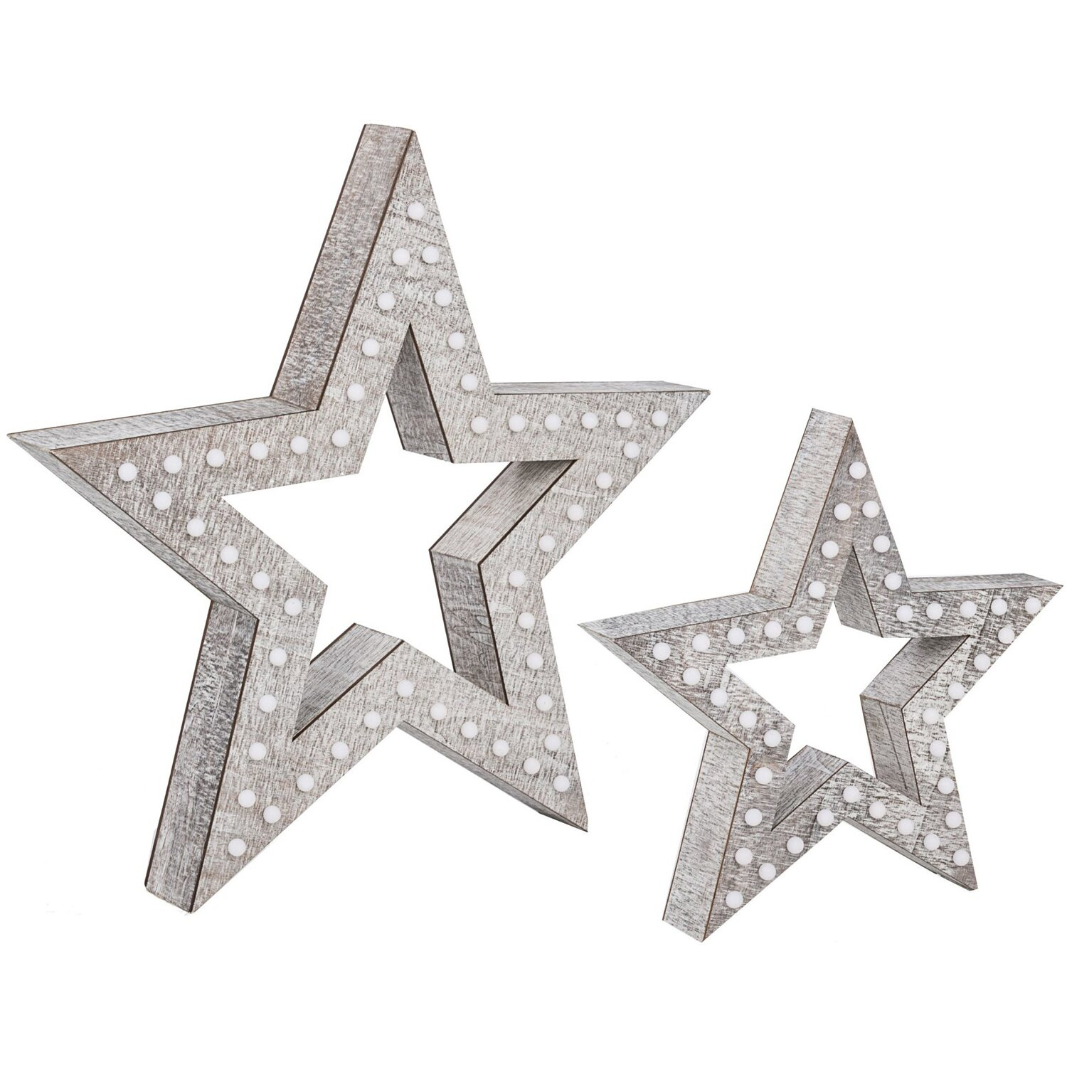 best of home Best of Home Beleuchtetes Deko-Objekt Modern Wood Star 72 cm x 76 cm x 10,5 cm