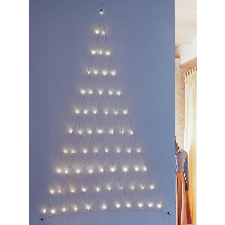 LED Lichtervorhang Tannenbaum 66 warmweiße LEDs innen