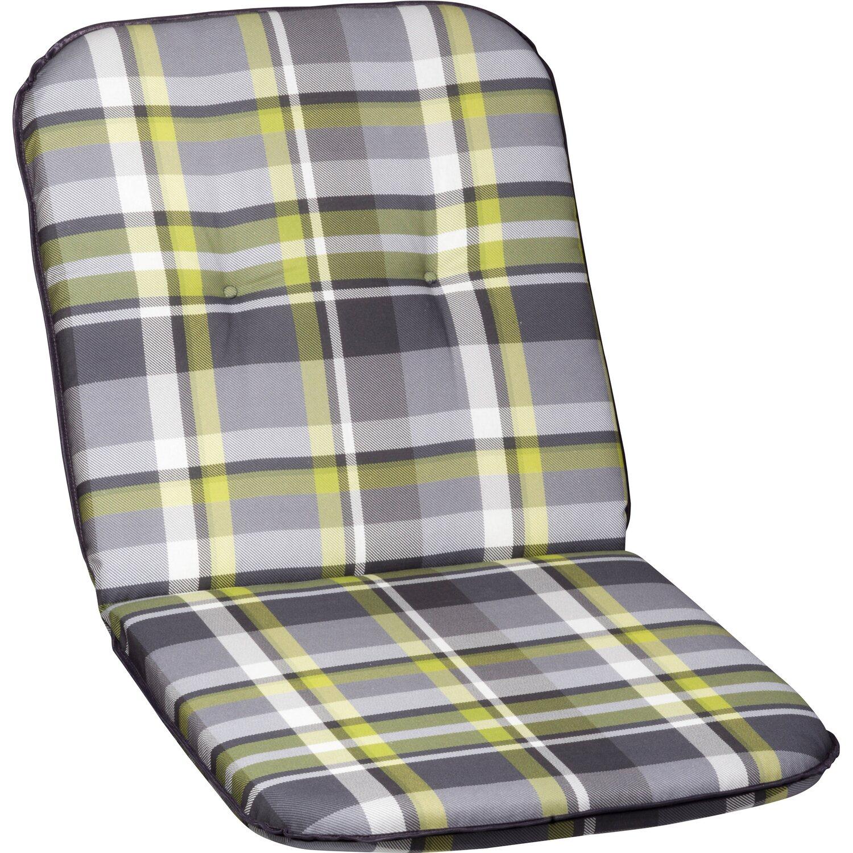 niederlehner auflage borkum grau gr n kariert kaufen bei obi. Black Bedroom Furniture Sets. Home Design Ideas