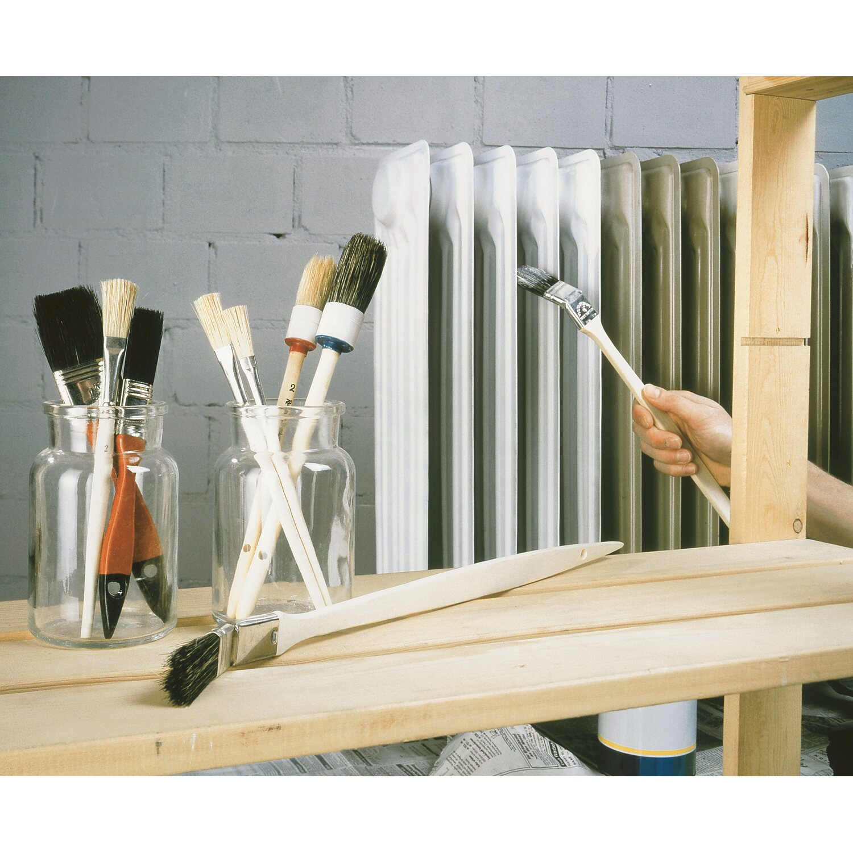 5 x  6-teiliges Maler Pinsel Set Flachpinsel Ringpinsel Malerpinsel Malerbedarf
