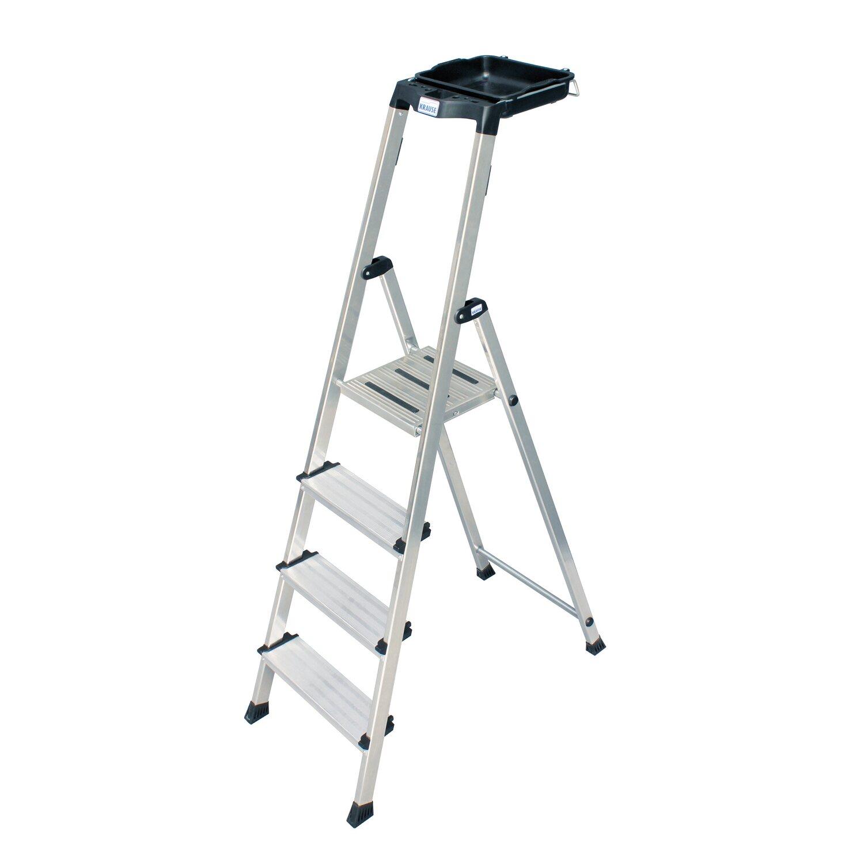 krause secury stufen steh leiter 4 stufen mit multigrip system kaufen bei obi. Black Bedroom Furniture Sets. Home Design Ideas