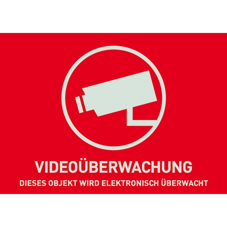 Abus  Warnaufkleber Videoüberwachung 148 mm x 105 mm
