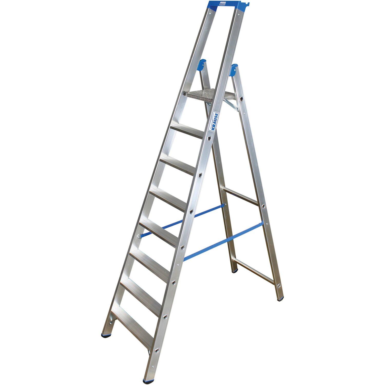 Krause Profi Stufen-Stehleiter Stabilo 8 Stufen   Baumarkt > Leitern und Treppen > Stehleiter   Aluminium   Krause