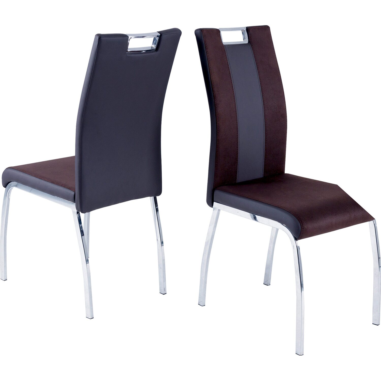 Reality Stuhl Bari 2 2er Set Leder Look Dunkelbraun Kaufen Bei Obi