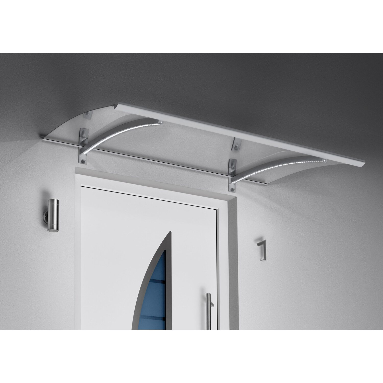 Gutta  Pultvordach mit LED-Technik, 150 x 90 cm, Edelstahl