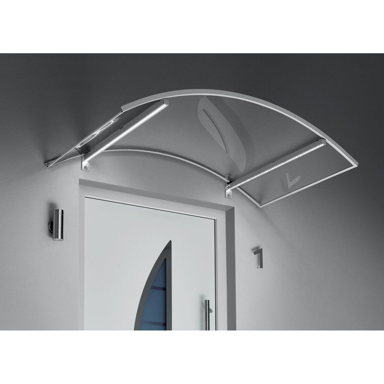 bogenvordach mit led technik edelstahloptik klar 25 cm x 150 cm x 90 cm kaufen bei obi. Black Bedroom Furniture Sets. Home Design Ideas