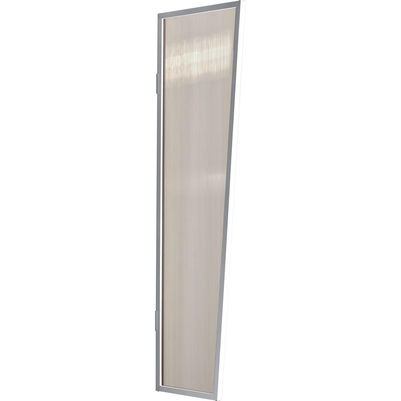 Gutta  Typ B1/PC Vordach-Seitenteil bronce, 200 x 60 cm, weiß