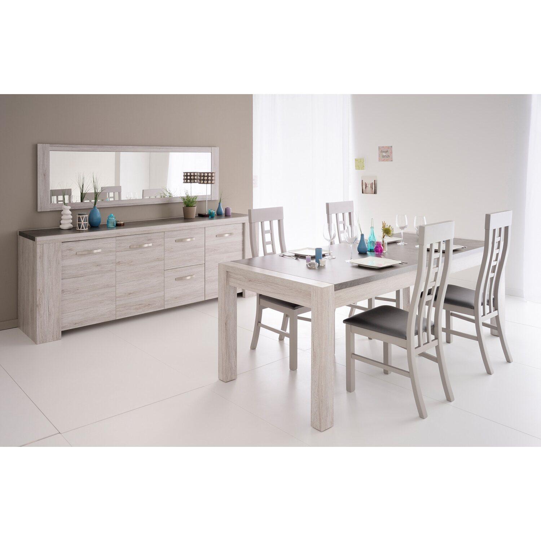 parisot esstisch mit sideboard und spiegel malone xiv portofino grau kaufen bei obi. Black Bedroom Furniture Sets. Home Design Ideas