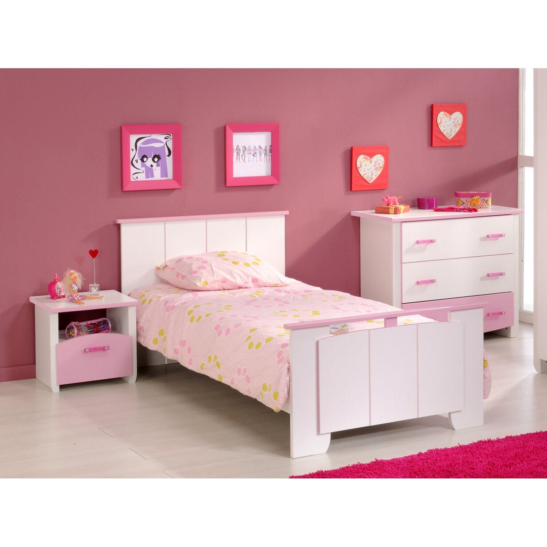parisot kinderzimmer set 3 teilig biotiful ii wei rosa kaufen bei obi. Black Bedroom Furniture Sets. Home Design Ideas