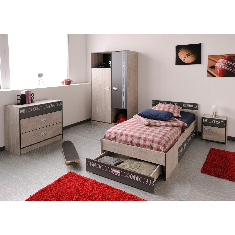 Parisot Schlafzimmer-Set 4-teilig Fabric Esche-Grau kaufen bei OBI