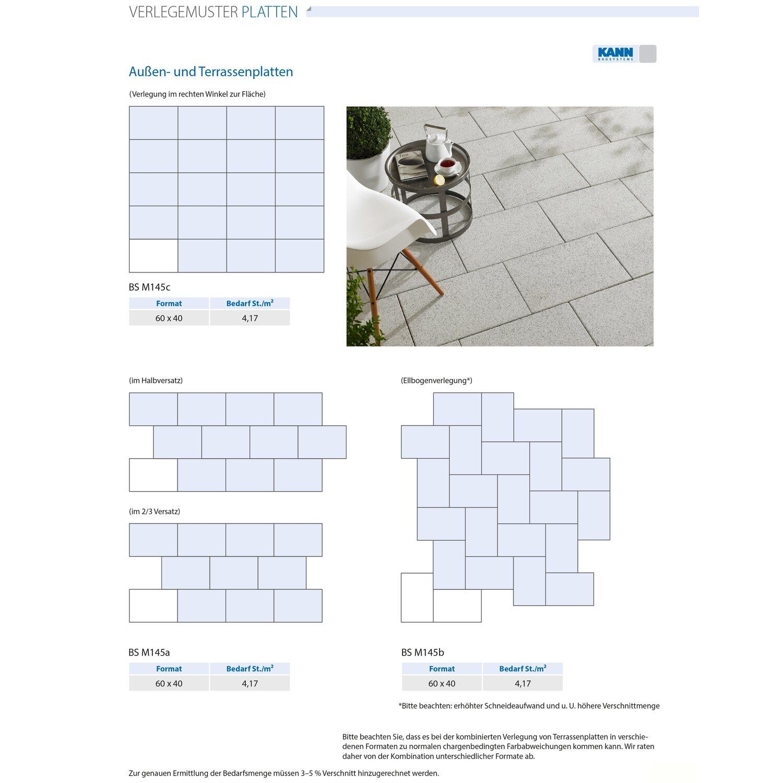 Terrassenplatte Beton Holzdiele Dunkelbraun beschichtet 60 cm x 40 ...