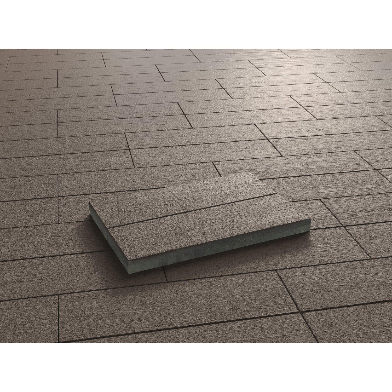 Terrassenplatte Beton Holzdiele Dunkelbraun Beschichtet Cm X - Gehwegplatten anthrazit 60 x 40