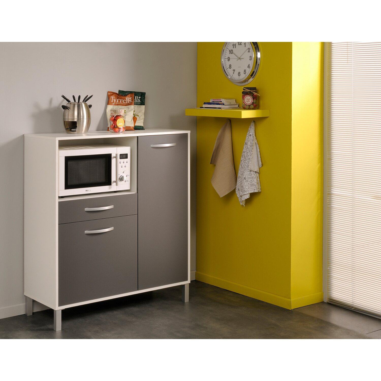 Parisot Küchenschrank Optibox II Grau-Weiß kaufen bei OBI
