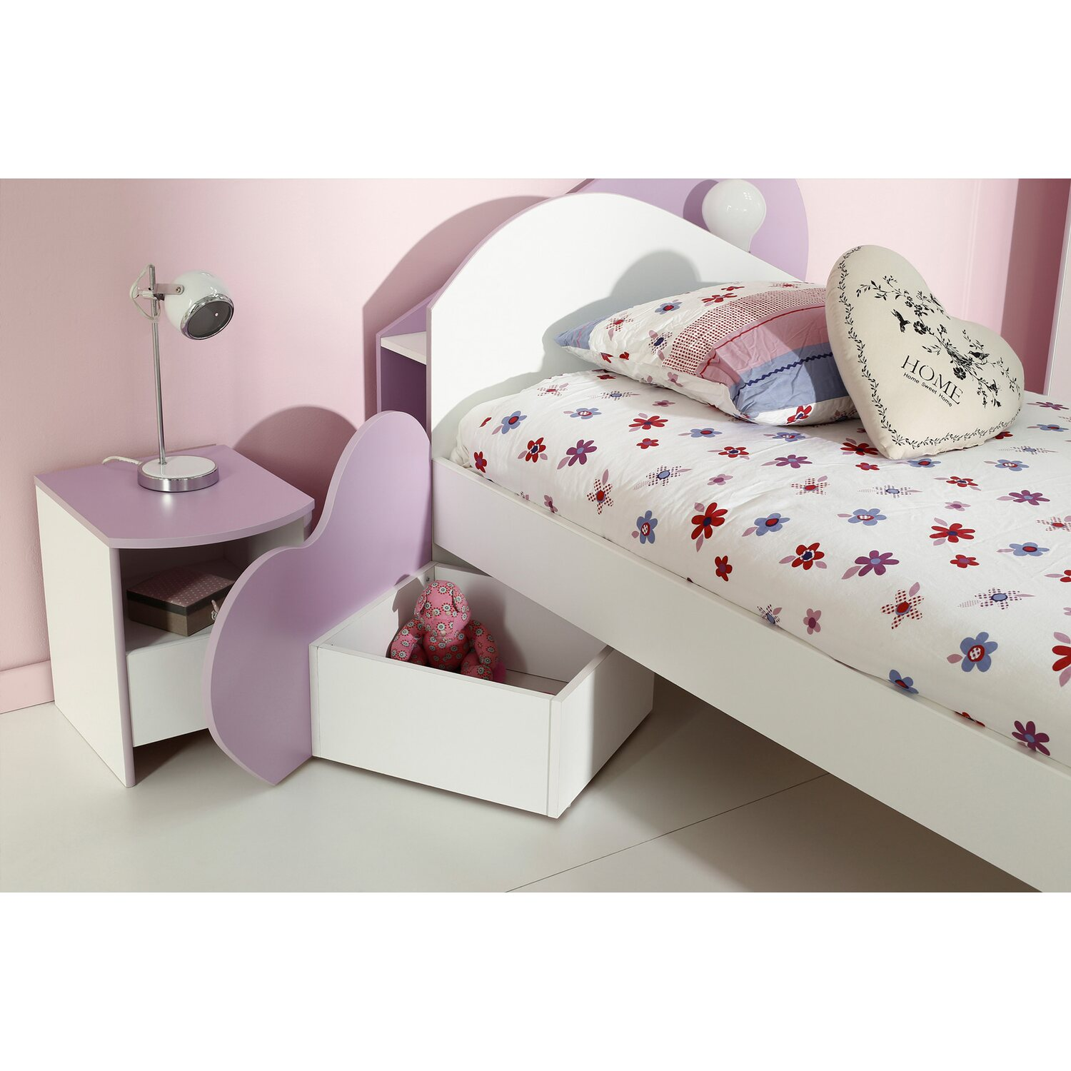 parisot kinderzimmer set 4 teilig mila iv wei lila kaufen bei obi. Black Bedroom Furniture Sets. Home Design Ideas