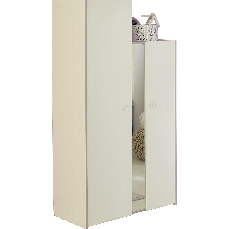 Parisot Kleiderschrank 2-türig Mila Weiß-Lila kaufen bei OBI