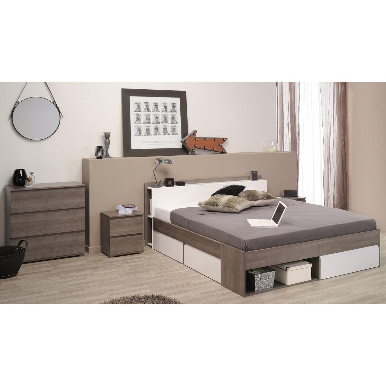 parisot schlafzimmer set most xvii 3 teilig eiche wei. Black Bedroom Furniture Sets. Home Design Ideas