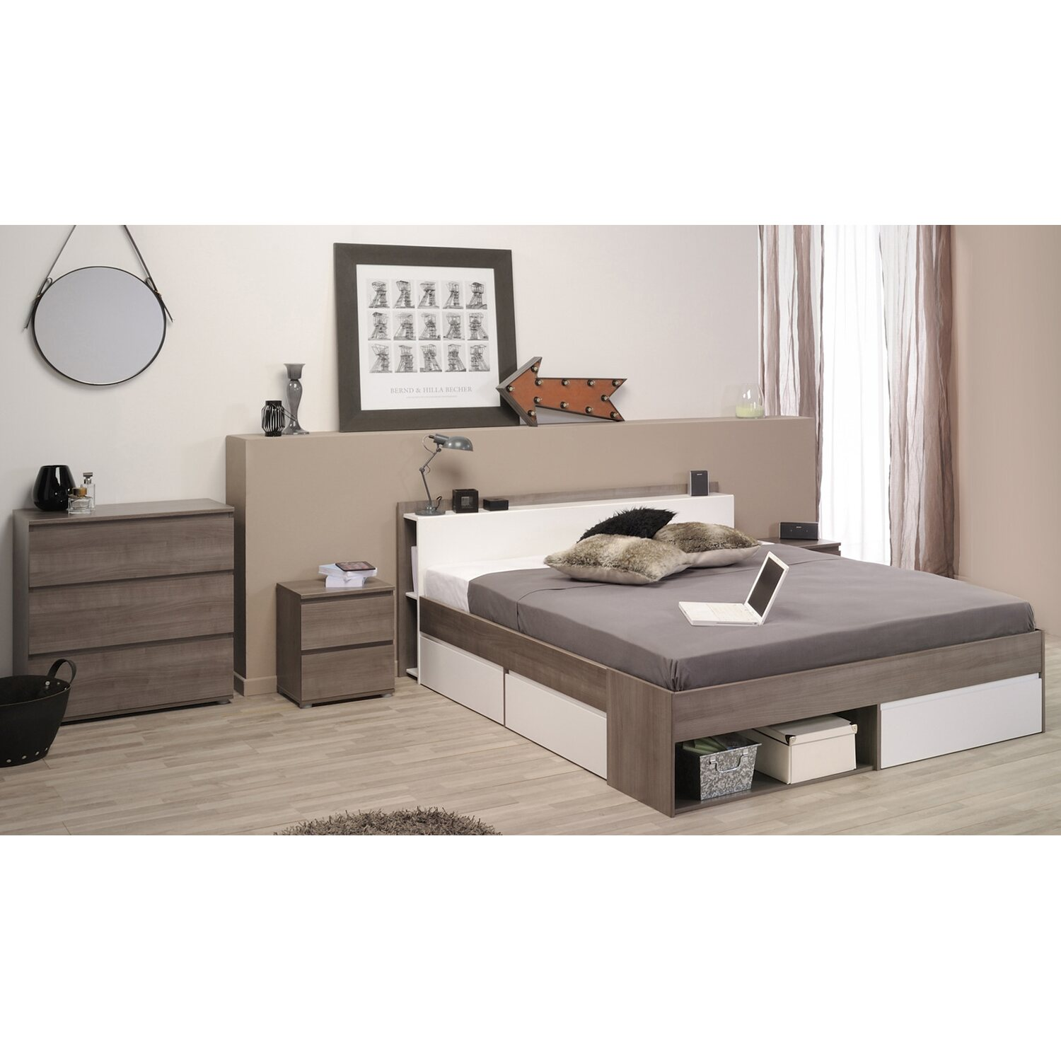 parisot schlafzimmer set most xviii 3 teilig eiche wei kaufen bei obi. Black Bedroom Furniture Sets. Home Design Ideas