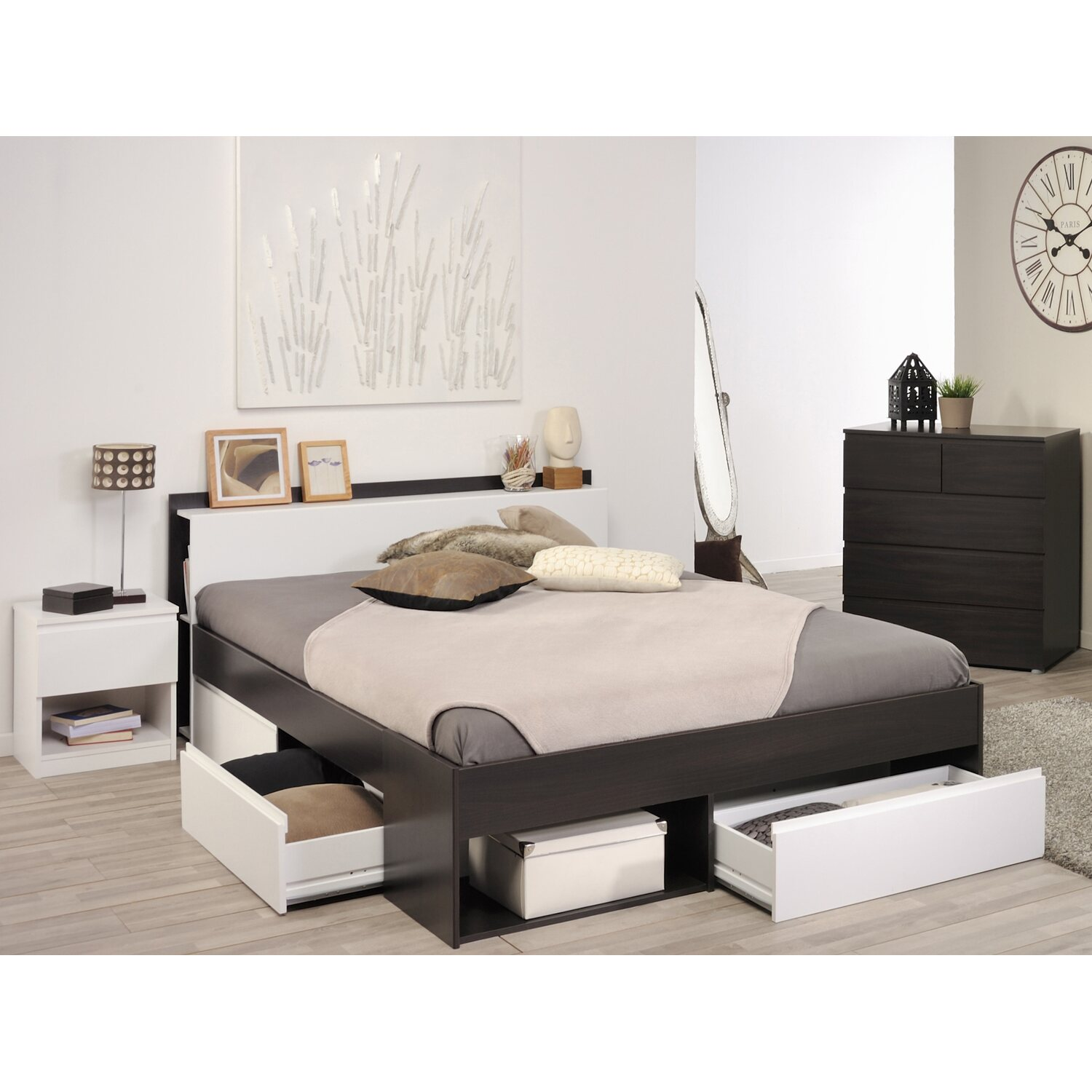 parisot schlafzimmer set most xviii 3 teilig kaffee wei kaufen bei obi. Black Bedroom Furniture Sets. Home Design Ideas