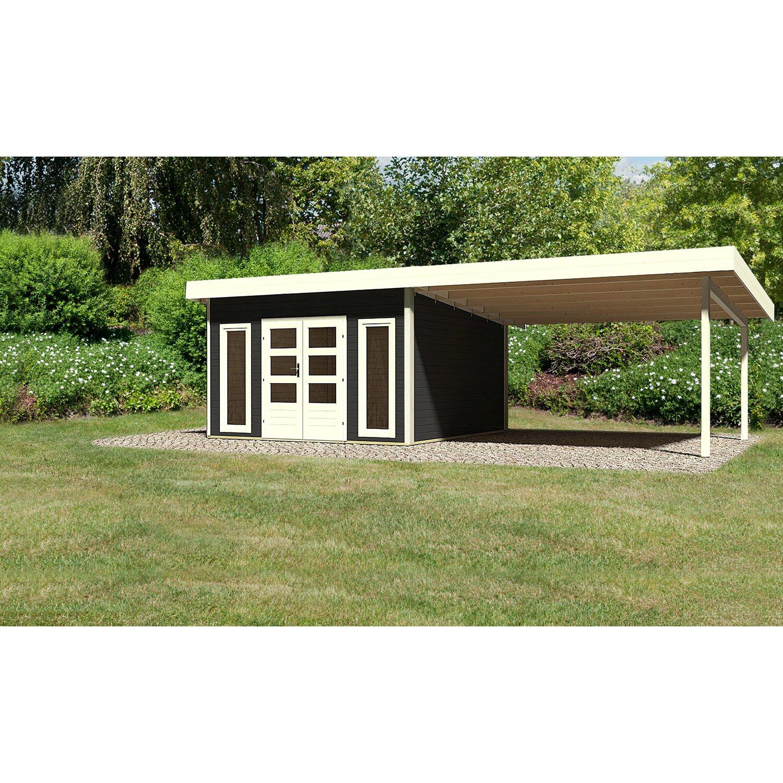 Holz Gartenhaus Karlskoga 5 Opalgrau Set Mit 4 M