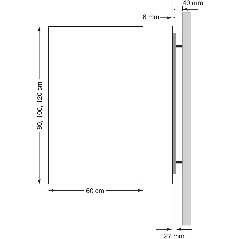 Howatech Infrarot Glas-Heizkörper Rot 850 W kaufen bei OBI