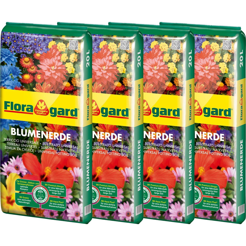Floragard  Blumenerde 4 x 20 l