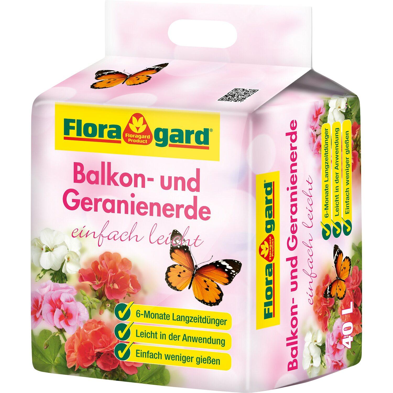 Floragard  Balkon- und Geranienerde mit Langzeitdünger einfach leicht 1 x 40 l